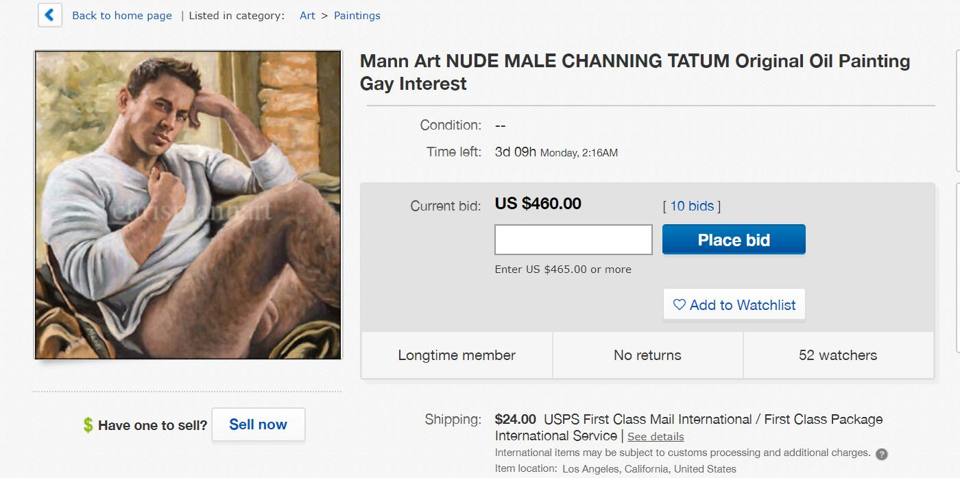 Original Oil Painting Of Channing Tatum's Ballsack Selling For $230