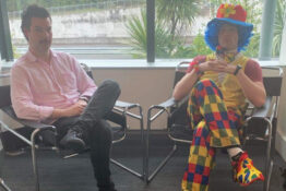 Guy brings emotional support clown to redundancy meeting
