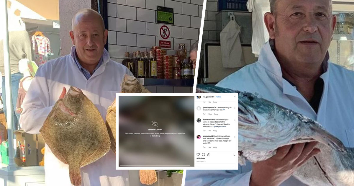 Instagram apologises after censoring fishmonger's content