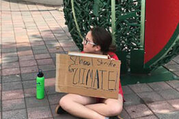 12-year-old girl only person to attend climate strike
