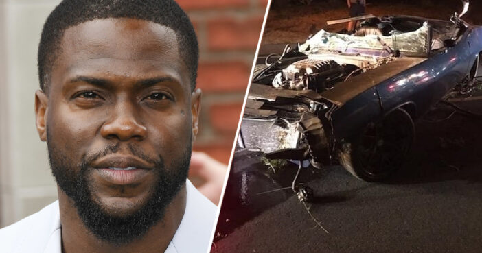 Kevin Hart 'Seriously Injured' In Crash That Completely Destroyed His Car