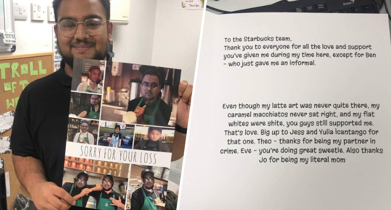 Guy Gives Colleagues Hilarious Leaving Card So They'll 'Never Forget Him'