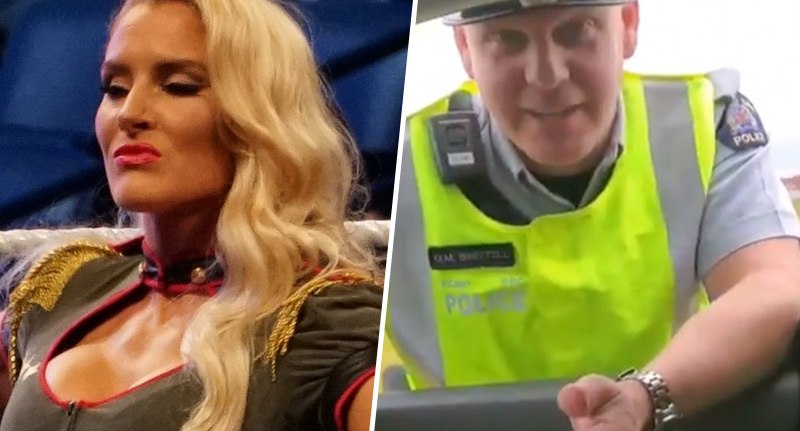 WWE superstar Lacey Evans tries to use celebrity status to get out of speeding ticket