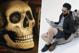 Giant skull chair is perfect Halloween decoration