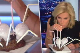 Fox News Anchor Tries To Drink Light Bulb-Stuffed Steak To 'Trigger' Liberals
