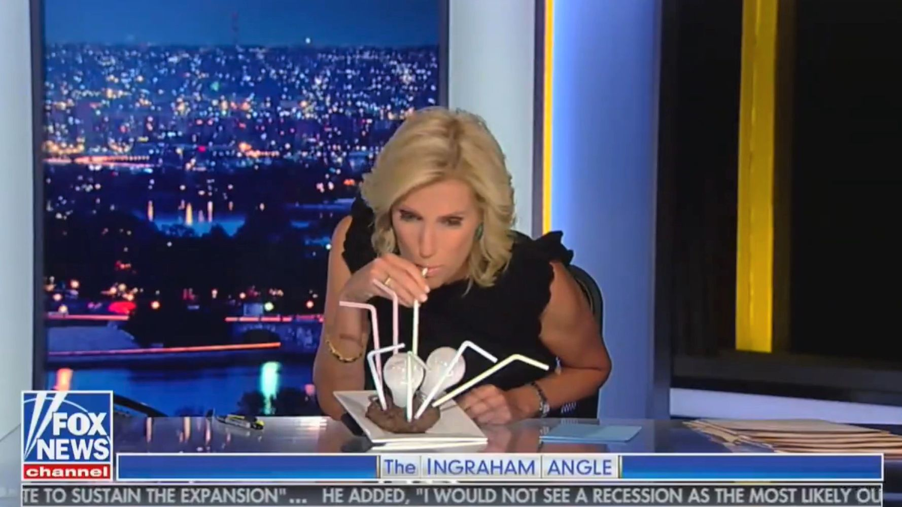 Fox News Anchor Tries To Drink Light Bulb-Stuffed Steak To