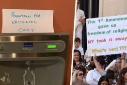 Anti vaxxers protest New York law