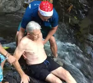 87-year-old man sets record for going down waterfall
