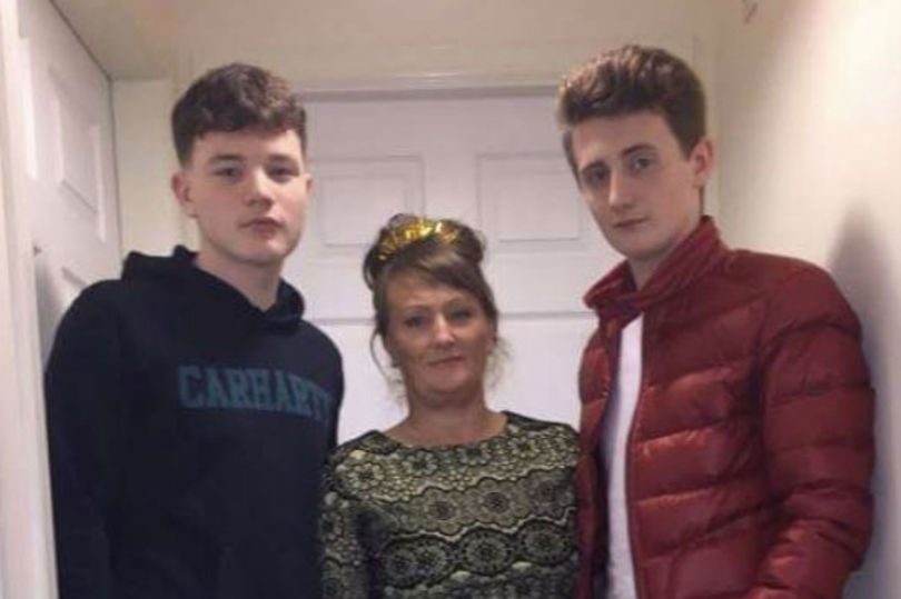 Grieving son pictured with mum who died