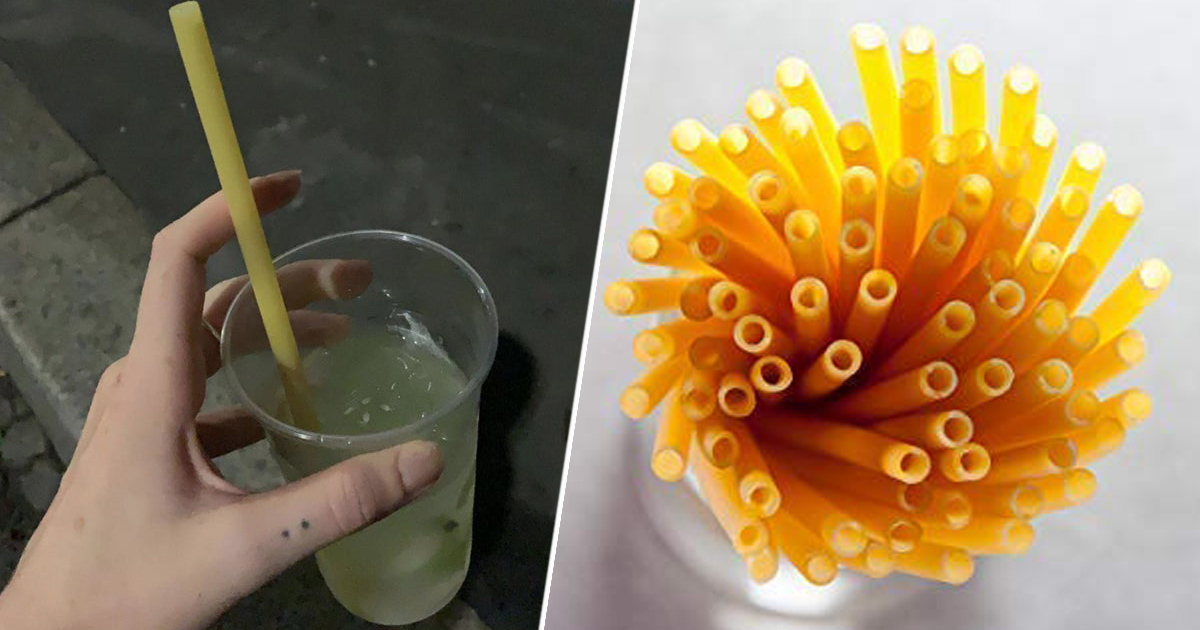 Bars In Italy Starting To Use Pasta Straws To Reduce Plastic Waste