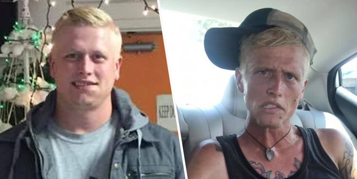 Mum Shares Photos of Heroin And Meth Addict Son Just Seven Months Apart