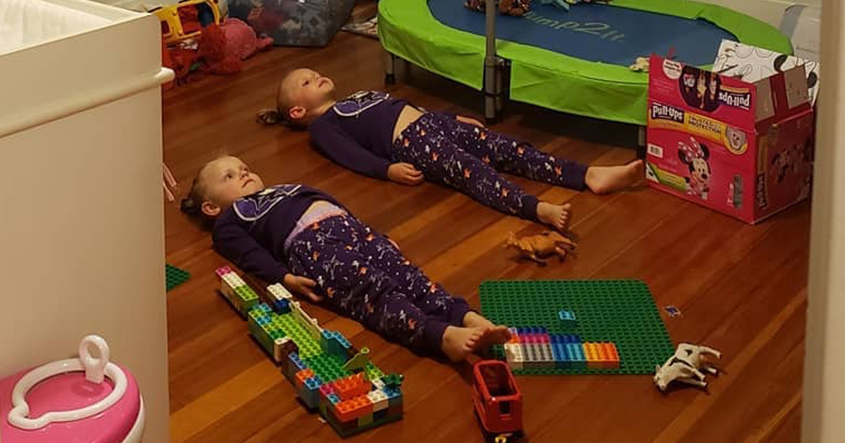 Mum Tells Kids They Need To Stay Still To Charge Glow-In-The-Dark PJs