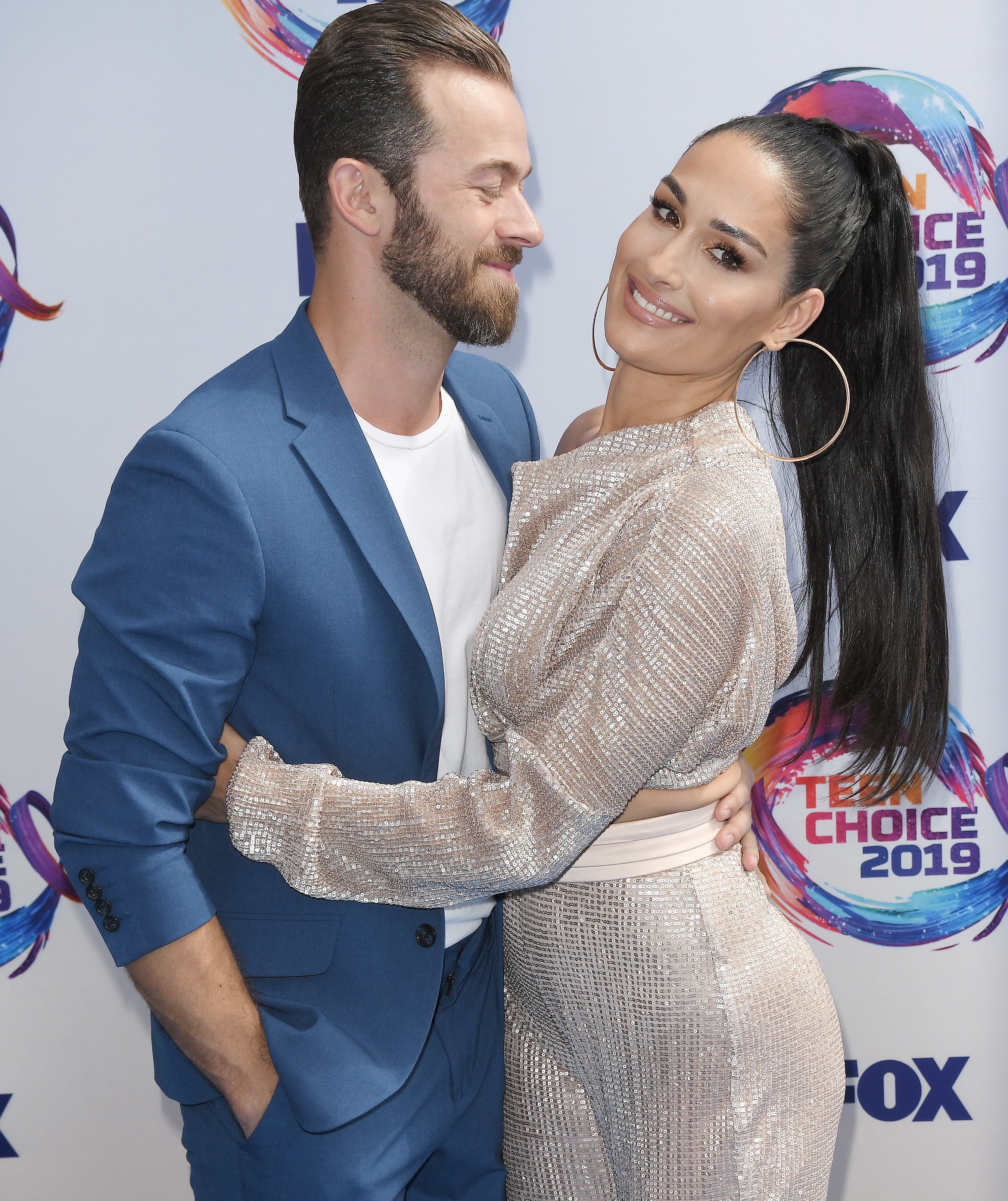 (L-R) Artem Chigvintsev and Nikki Bella