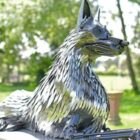 Police Dog Monument Is Made Of Seized Knives And Blades