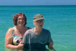 93-year-old man beach Florida
