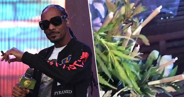 Snoop Dogg Gets 48-Joint Bouquet For 48th Birthday