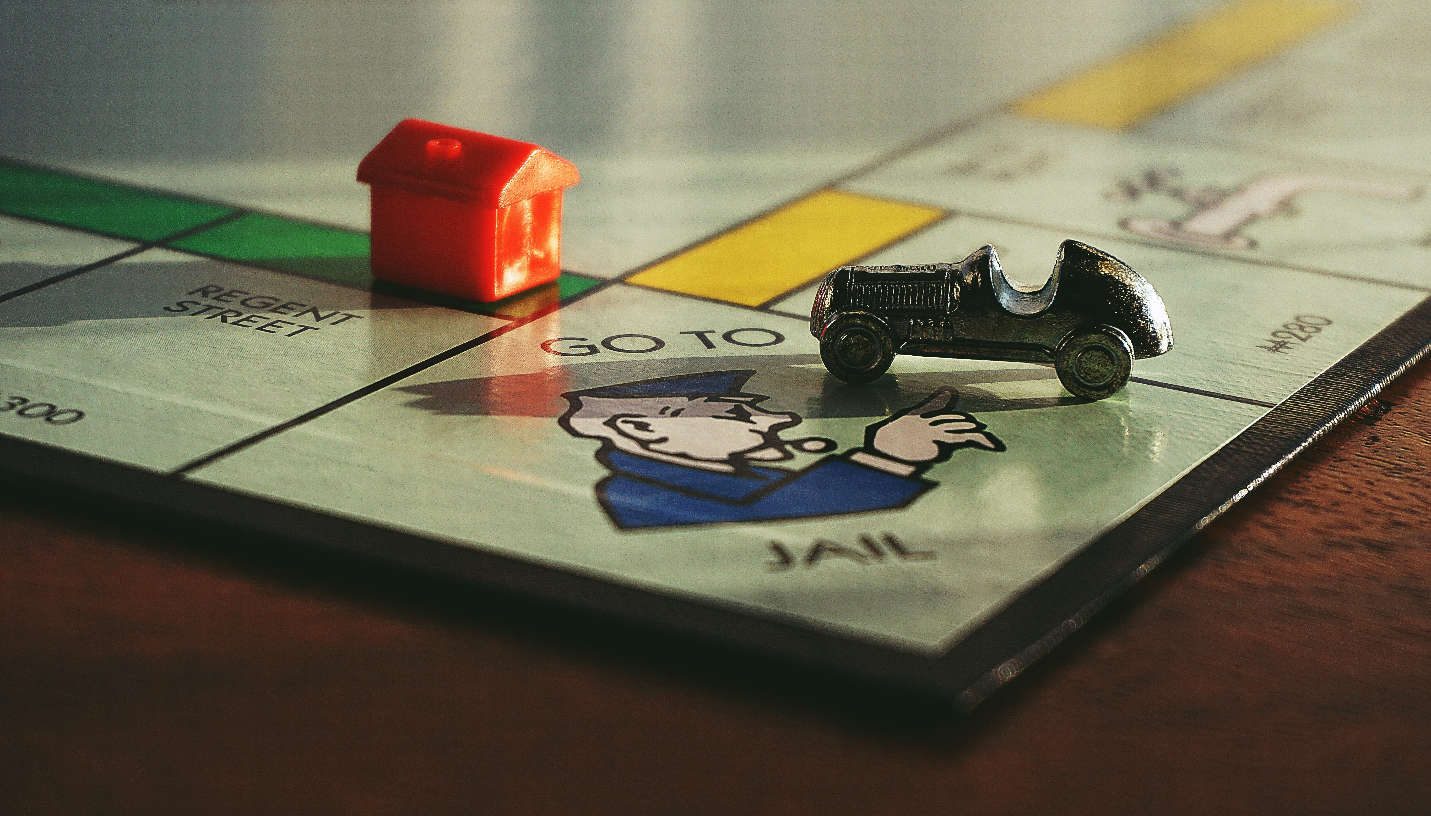 Monopoly board game 'Go to Jail'