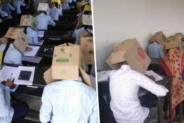 School Forces Pupils To Wear Cardboard Boxes Over Heads To Stop Cheating