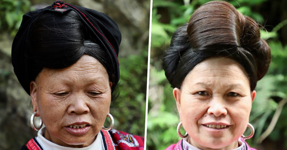 Women with two-metre long hair only cut it once in their lifetime