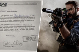 Call of Duty release sick note for gamers to get out of work