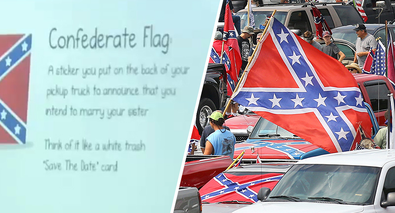Teacher tells class Confederate flag means you intend to marry your sister