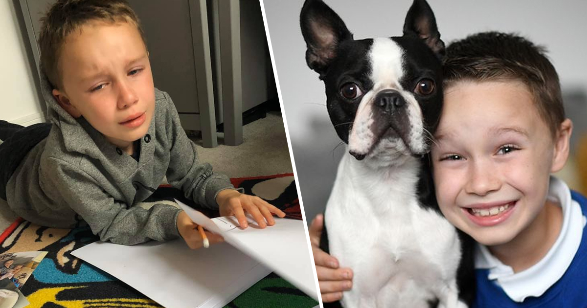 Boy draws wanted posters to find lost dog