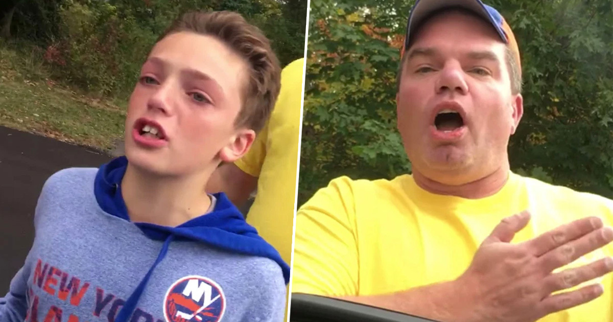 father and son confront deer hunter 1