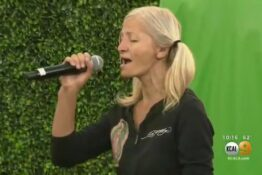 homeless opera singer performs on stage