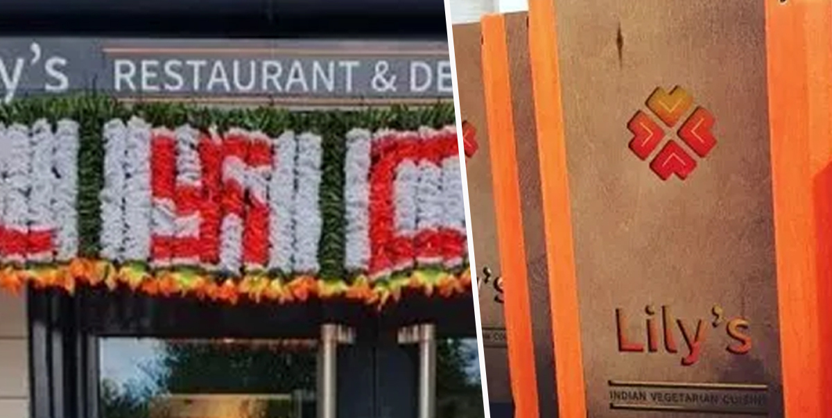 Indian Restaurant Receives Backlash Over 'Swastika' Sign That's Actually A Peace Symbol