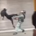 Hong Kong Protester Flying Kicks Policeman To Stop Him Arresting Fellow Protester