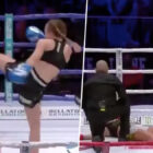 Kickboxer Knocks Out Opponent Twice Her Age With Brutal Kick To Head