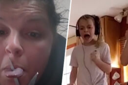 Mum Frightens Kids To Tears With Hilarious Scissor Prank