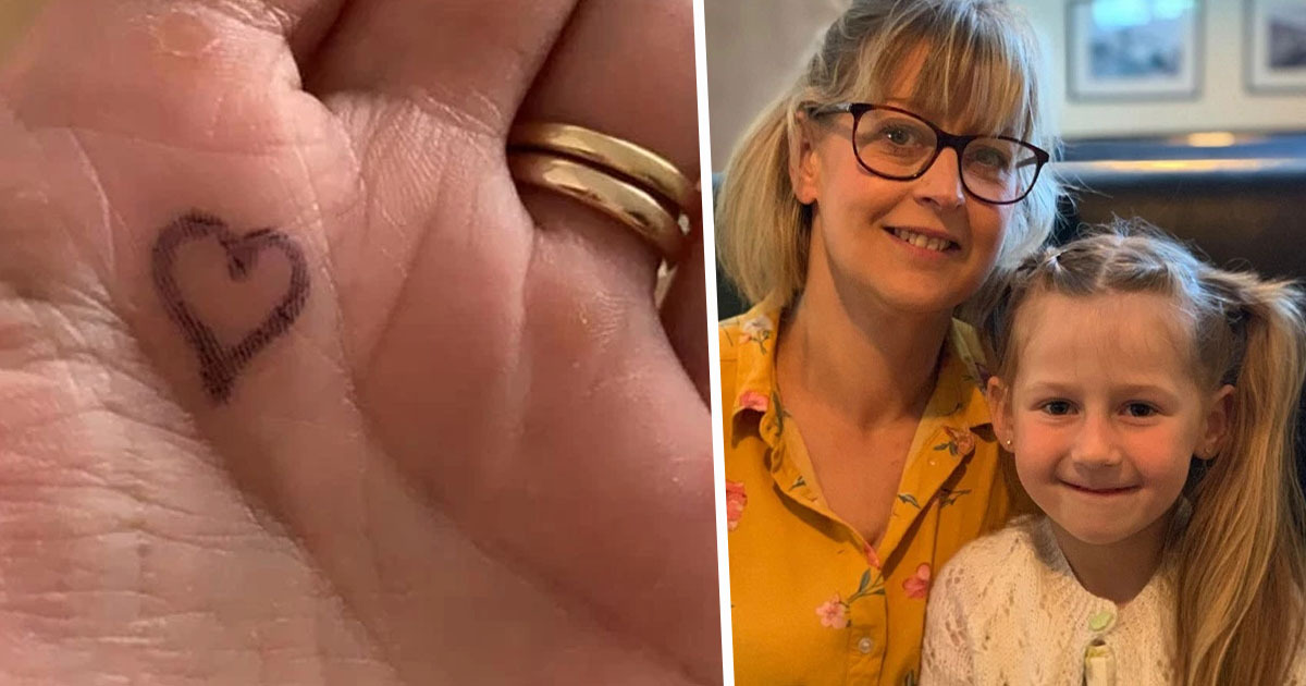 Mum Comforts Daughter Suffering Separation Anxiety With 'Hug Button'