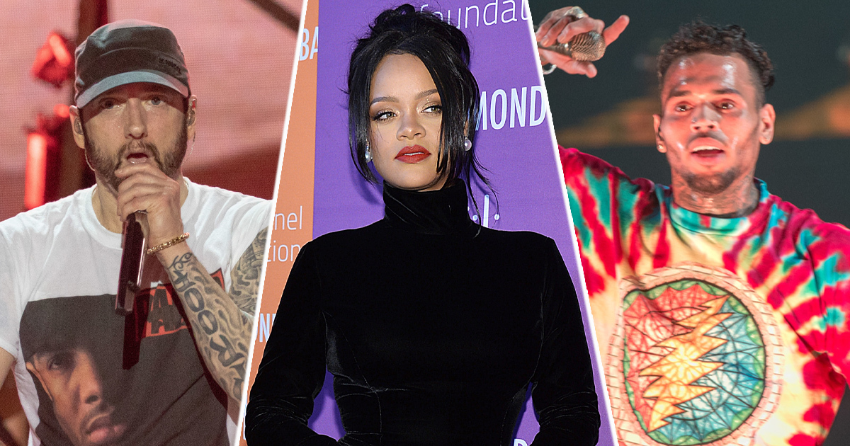 Eminem Sides With Chris Brown While Rapping About Rihanna Assault In Leaked Verse Snippet