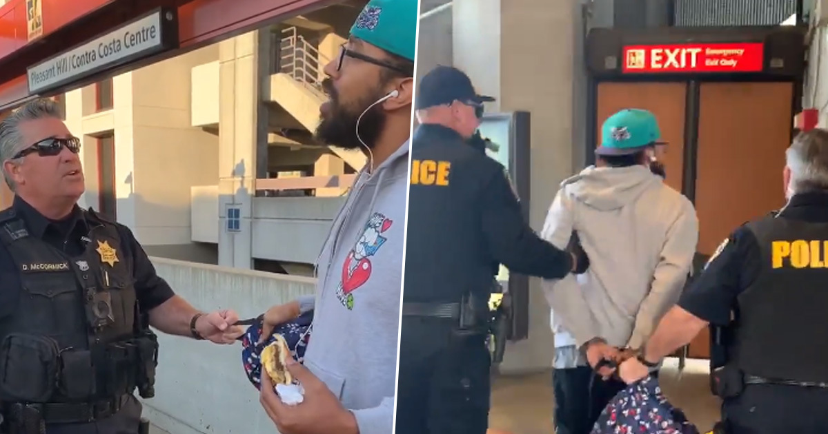 Police Officers Arrest Man For 'Illegally Eating' Sandwich