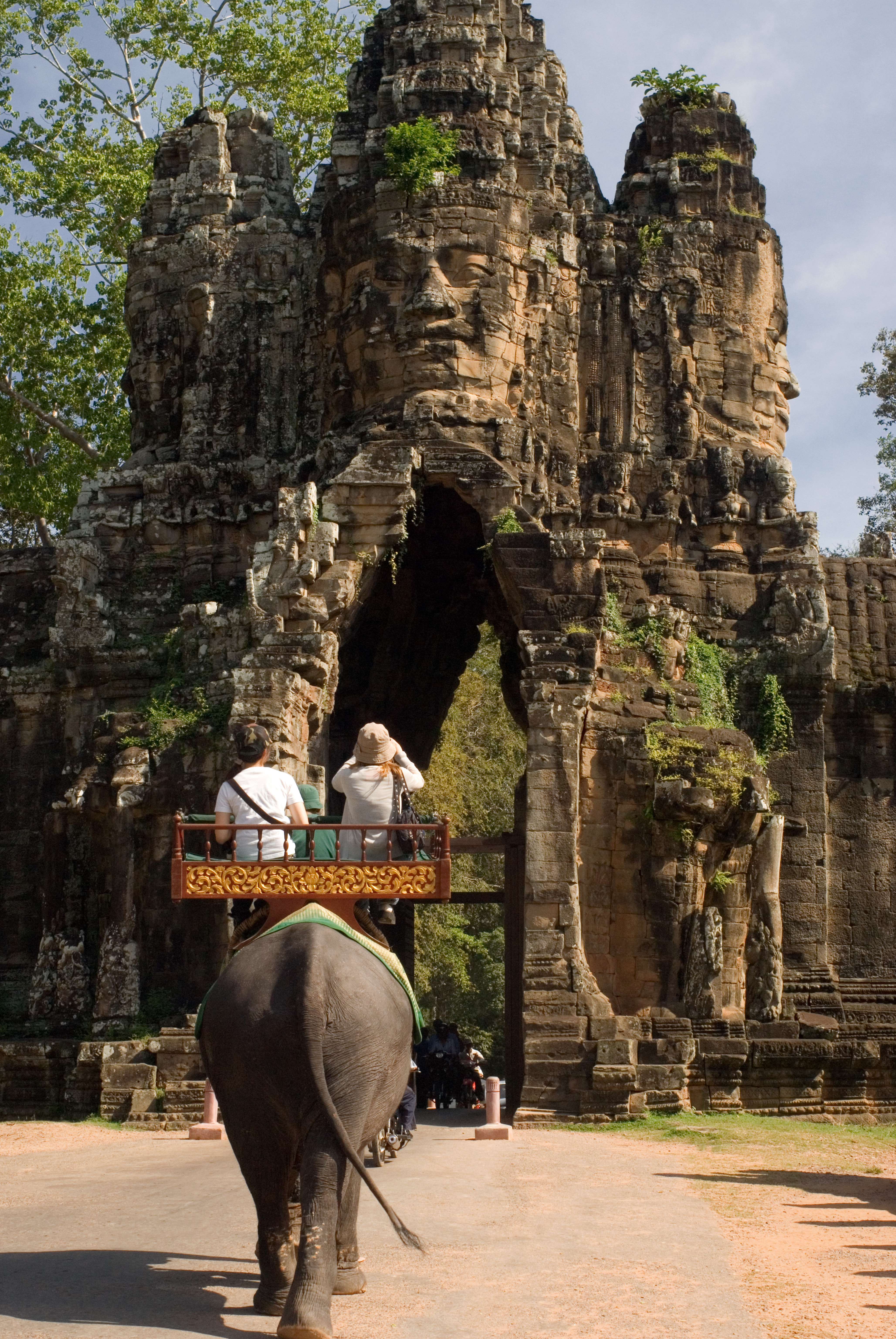 Elephant ride in Cambodia's Angkor park