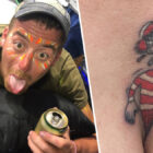 Dad Sends Message To Kids After Getting Where's Wally Tattoo Emerging From Bum