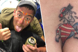 Where's Wally Tattoo Thumb