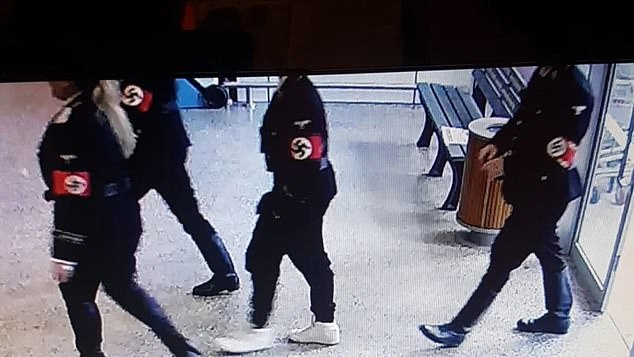 Four Racists Dressed As Nazis Walk Into Supermarket