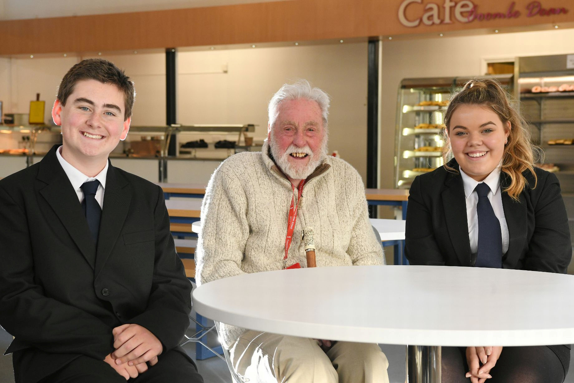 Pensioner eats at local school