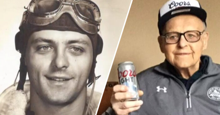 WW2 Veteran Who Credits Long Life To Daily Coors Light Turns 102