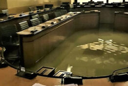 Italian council room floods after rejecting climate change measures