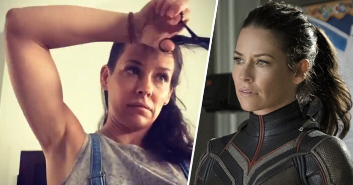 Evangeline Lilly Just Time-Lapsed Shaving All Her Hair Off
