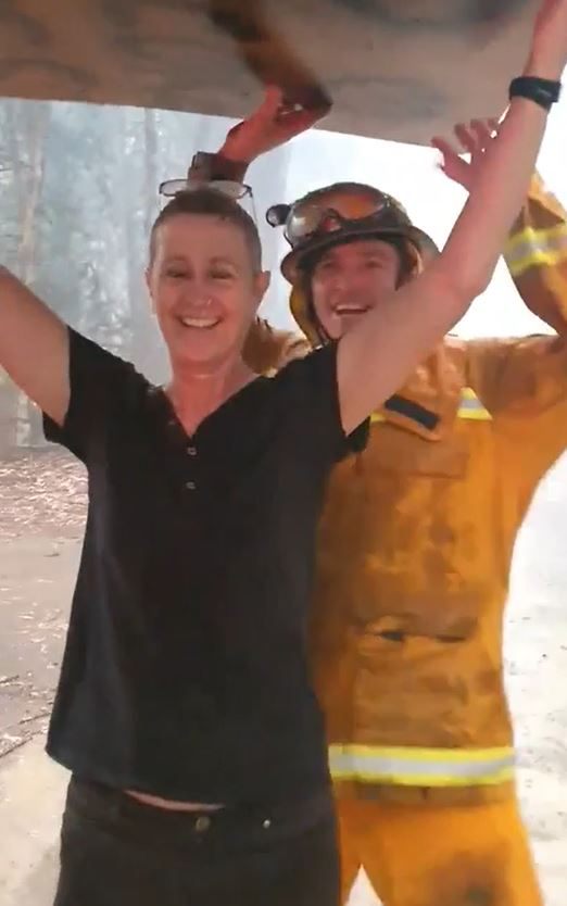 Aussie Firefighters Break Into Smiles And Dance As Rain Falls On Bushfire Area