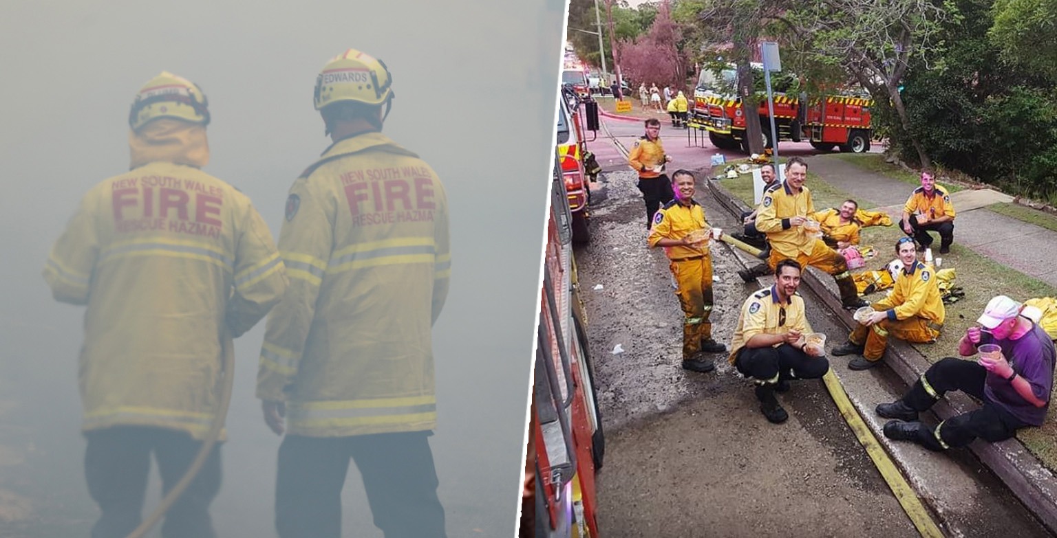 Australian Firefighters Thank Sikh Community For Bringing Them Meals While They Tackle Bushfires