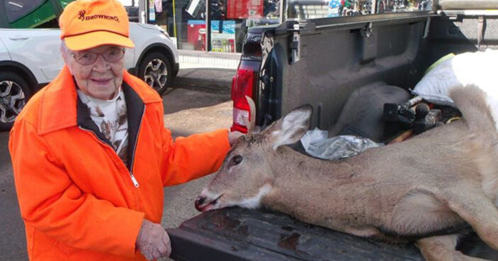 104-year-old woman, deer hunting