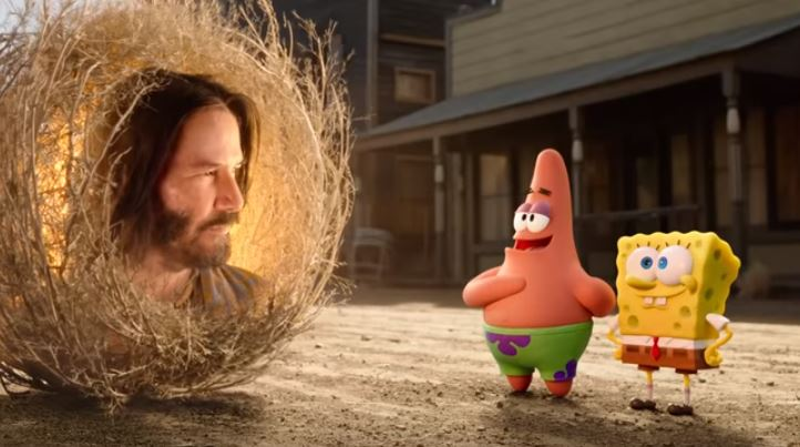 Keanu Reeves cameo in Spongebob film