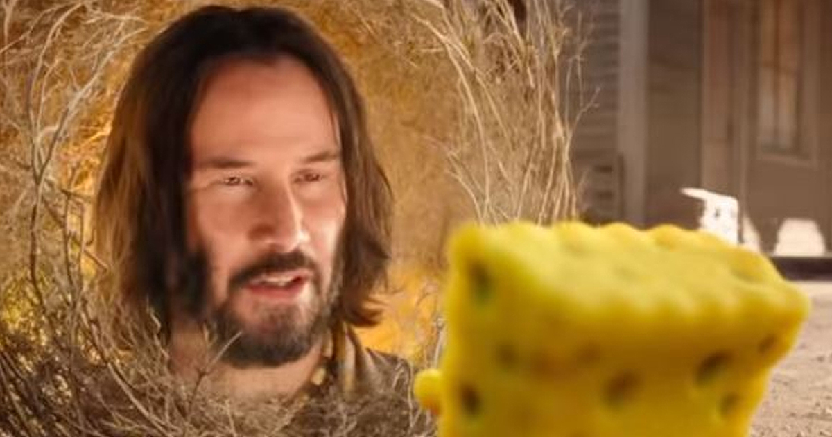 Keanu Reeves' Disembodied Face Stars In Newest SpongeBob Movie