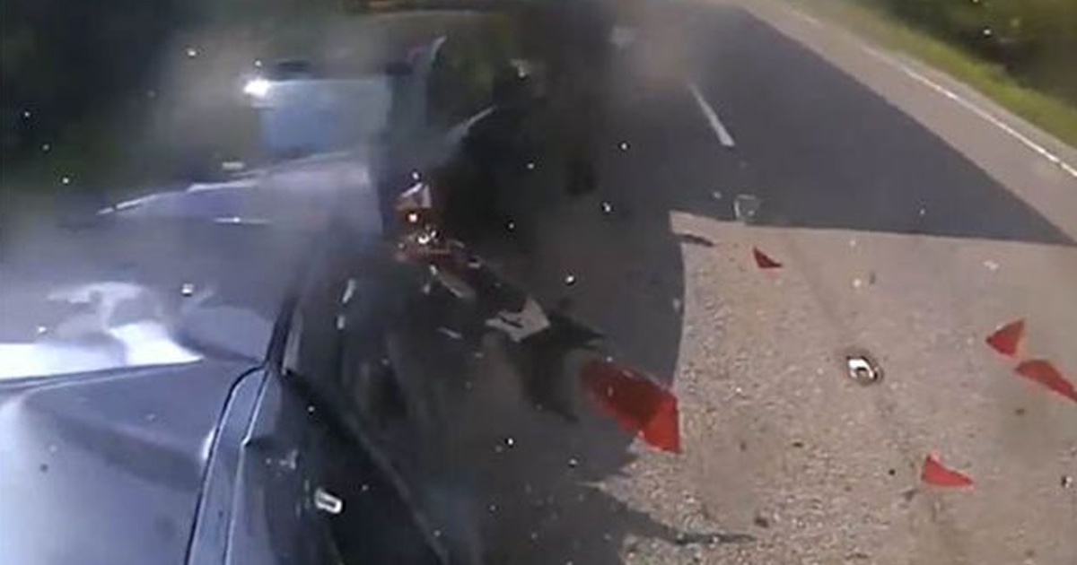 Police Release Footage Of Car Crash As Warning To Other Drivers