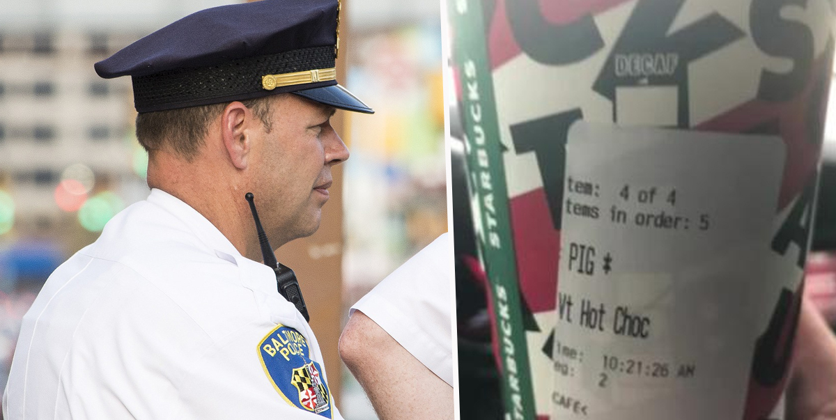 Oklahoma Police Officer Claims Starbucks Gave Him Drink With The Word 'Pig' On The Label